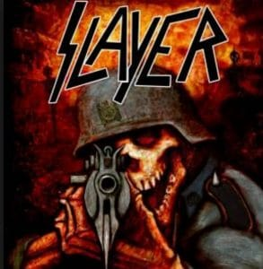 Image of a heavy metal band, Slayer. Mix is not used by heavy metal singers.