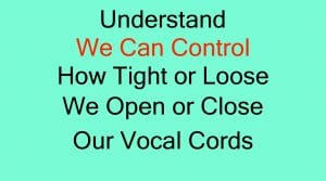 How to Improve Your Singing? Control cord closure
